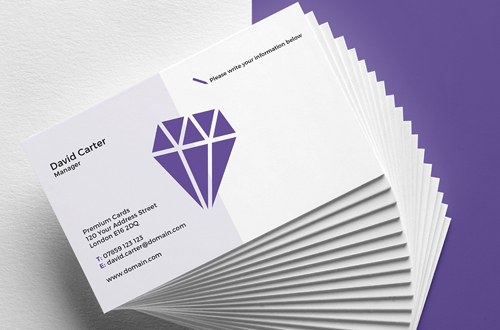 Uncoated Business Cards - Writable